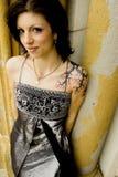 προκλητική γυναίκα δερματοστιξιών φορεμάτων Στοκ φωτογραφία με δικαίωμα ελεύθερης χρήσης