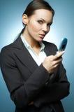 προκλητική γυναίκα επιχειρησιακού mg Στοκ Εικόνες