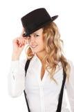 προκλητική γυναίκα καπέλ&o Στοκ Εικόνα