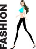 προκλητική γυναίκα μόδας ελεύθερη απεικόνιση δικαιώματος