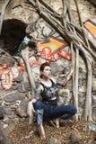προκλητική διαστισμένη γυναίκα στοκ εικόνες με δικαίωμα ελεύθερης χρήσης