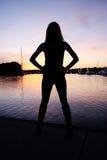 προκλητική σκιαγραφία Στοκ φωτογραφία με δικαίωμα ελεύθερης χρήσης