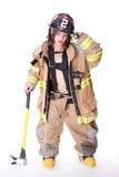 Προκλητικός θηλυκός εθελοντής πυροσβέστης Στοκ Φωτογραφίες