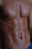Προκλητικό νέο αρσενικό στήθος που απομονώνεται Στοκ Εικόνες