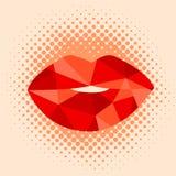 Προκλητικό φιλί τέχνης σχεδίου χειλικής ζωηρόχρωμο απεικόνισης δαγκώματος κόκκινο Στοκ Φωτογραφία