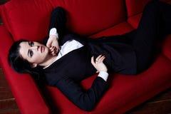Προκλητικό όμορφο BR γραμματέων CEO γυναικείων κύριο διευθυντών επιχειρησιακών γυναικών Στοκ φωτογραφία με δικαίωμα ελεύθερης χρήσης