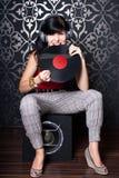Προκλητικό DJ στοκ φωτογραφία με δικαίωμα ελεύθερης χρήσης