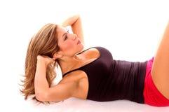 προκλητικό workout άσκησης Στοκ Εικόνες