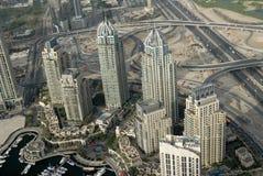 προκυμαία κτηρίων jumeirah στοκ εικόνες