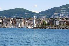 Προκυμαία της Γενεύης Στοκ φωτογραφία με δικαίωμα ελεύθερης χρήσης