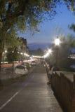 Προκυμαία της Φλωρεντίας τη νύχτα Στοκ φωτογραφία με δικαίωμα ελεύθερης χρήσης