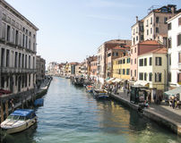 Προκυμαία του μεγάλου καναλιού στη Βενετία Στοκ Εικόνες
