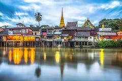 Προκυμαία Chantaboon στην επαρχία Chanthaburi, Ταϊλάνδη Στοκ Εικόνες