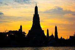 Προκυμαία Prang Wat Arun Phra Στοκ Εικόνες