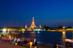 Προκυμαία Prang Wat Arun Phra Στοκ Εικόνα