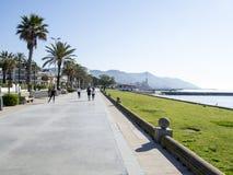 Προκυμαία Sitges, Ισπανία στοκ φωτογραφία με δικαίωμα ελεύθερης χρήσης