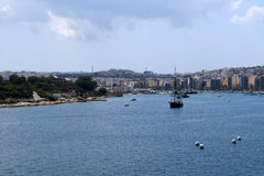 Προκυμαία Sliema, Μάλτα Στοκ Φωτογραφία