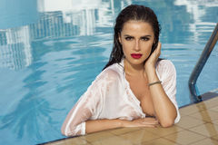 προκλητική γυναίκα πορτρέτου ομορφιάς Στοκ Εικόνες