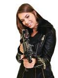 προκλητική γυναίκα πυρο&b Στοκ φωτογραφία με δικαίωμα ελεύθερης χρήσης