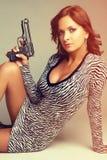 προκλητική γυναίκα πυρο&b στοκ εικόνα με δικαίωμα ελεύθερης χρήσης