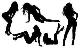 προκλητική γυναίκα σκιαγραφιών Στοκ εικόνα με δικαίωμα ελεύθερης χρήσης