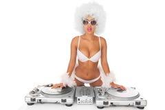 Προκλητική γυναίκα του DJ Στοκ Εικόνα