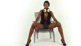 Προκλητική γυναίκα disco απόθεμα βίντεο