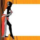 Προκλητική γυναικεία σκιαγραφία Στοκ φωτογραφία με δικαίωμα ελεύθερης χρήσης