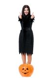 προκλητική μάγισσα Στοκ φωτογραφία με δικαίωμα ελεύθερης χρήσης