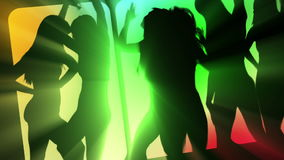Προκλητικοί χορευτές λεσχών απόθεμα βίντεο