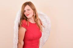 Προκλητικός άγγελος κοριτσιών Στοκ Εικόνα