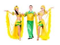 Προκλητικός χορός χορευτών καρναβαλιού Στοκ φωτογραφία με δικαίωμα ελεύθερης χρήσης