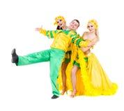 Προκλητικός χορός χορευτών καρναβαλιού Στοκ Εικόνα