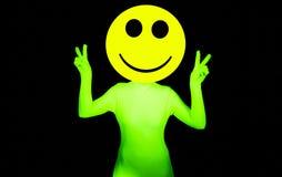 Προκλητικός όξινος χορευτής smiley rave Στοκ εικόνες με δικαίωμα ελεύθερης χρήσης