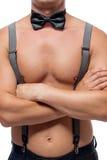 Προκλητικό αθλητικό σώμα γυμνό stripper Στοκ φωτογραφίες με δικαίωμα ελεύθερης χρήσης