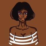 Προκλητικό αφρικανικό κορίτσι μόδας Στοκ Φωτογραφία