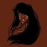 Προκλητικό αφρικανικό κορίτσι μόδας Στοκ Εικόνες