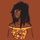 Προκλητικό αφρικανικό κορίτσι μόδας Στοκ φωτογραφία με δικαίωμα ελεύθερης χρήσης