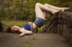 Προκλητικό Βοημίας κορίτσι στοκ εικόνες με δικαίωμα ελεύθερης χρήσης