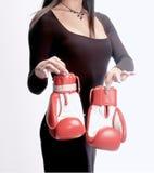 Προκλητικό επιλεγμένο κορίτσι γάντι πυγμαχίας Στοκ εικόνες με δικαίωμα ελεύθερης χρήσης