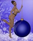 Προκλητικό κορίτσι Χριστουγέννων Στοκ Φωτογραφία