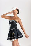 Προκλητικό κορίτσι ως ναυτικό Στοκ Φωτογραφία