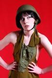Προκλητικό στρατιωτικό κορίτσι Στοκ φωτογραφίες με δικαίωμα ελεύθερης χρήσης