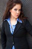 Προκλητικό όμορφο brunete γυναικείο ενήλικο θηλυκό wea κοριτσιών επιχειρησιακών γυναικών Στοκ Εικόνες