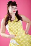 Προκλητικό Redhead κορίτσι pinup στοκ εικόνα