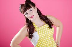 Προκλητικό Redhead κορίτσι pinup στοκ εικόνες