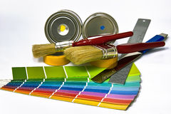Προμήθειες για τη ζωγραφική Στοκ εικόνα με δικαίωμα ελεύθερης χρήσης