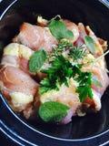 Προμαγειρεμένο κοτόπουλο Crockpot Στοκ εικόνες με δικαίωμα ελεύθερης χρήσης