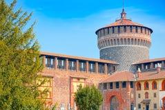Προμαχώνας και πρόχωμα του Sforza Castle, Μιλάνο στοκ φωτογραφίες με δικαίωμα ελεύθερης χρήσης