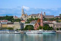 Προμαχώνας ψαράδων ` s και καλβινιστής εκκλησία, Βουδαπέστη, Ουγγαρία Στοκ Φωτογραφία